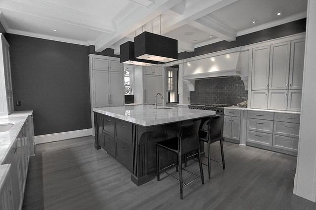 Gray kitchen Ansley Park - Contemporary - Kitchen - atlanta - by Cabinets Of Atlanta Inc.