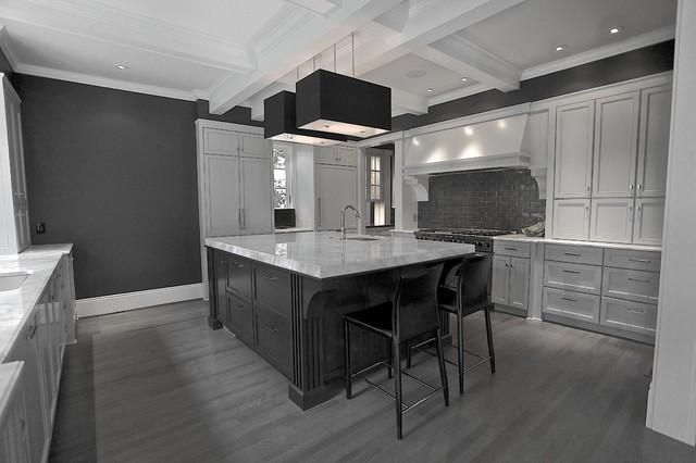 Gray kitchen Ansley Park - Contemporary - Kitchen - Atlanta - by ...