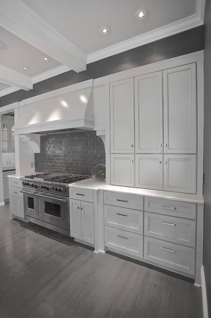 Gray kitchen cabinets with wood floors - Grey wood floors kitchen ...