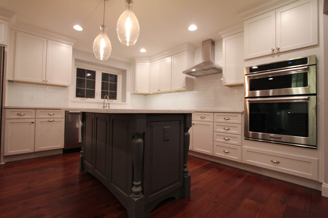 Black Kitchen Island With Turned Post Legs
