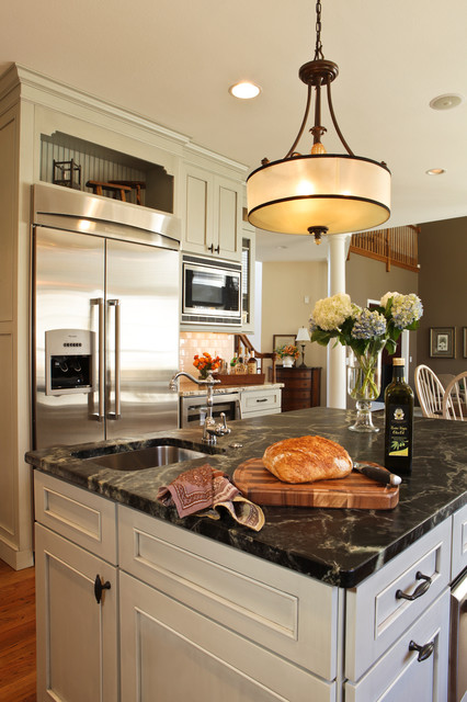Gray Kitchen Renovation St Louis Mo Traditional