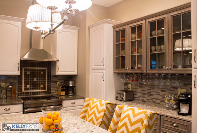 Gray Kitchen Update Transitional Kitchen Cincinnati By Kelly Brothers Home Design Center