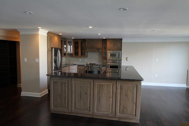 Gray Knotty Alder cabinets - Kitchen