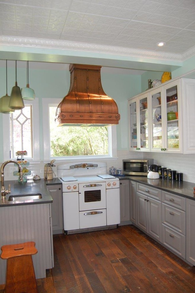 Gray Painted Kitchen Cabinets - Farmhouse - Kitchen - New ...
