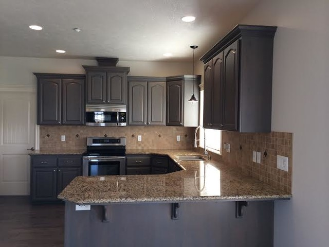 Gray Stained Kitchen Cabinets - Traditional - Kitchen - boise - by Revive Cabinetry