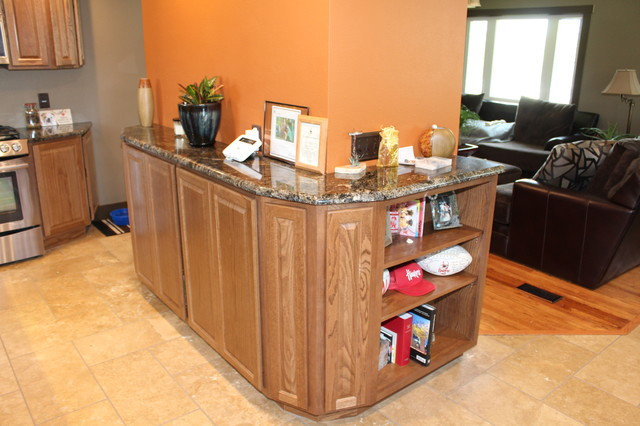 Great bachelor pad remake transitional kitchen omaha for Kitchen remake ideas