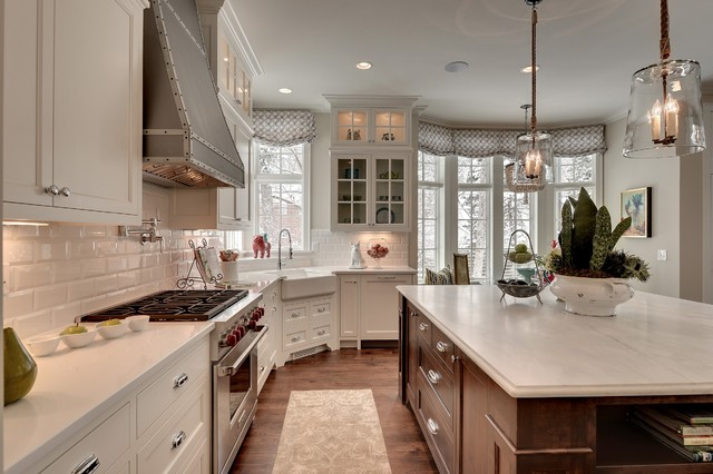 Inspiration For A Timeless Kitchen Remodel In Minneapolis With Subway Tile  Backsplash And A Farmhouse Sink