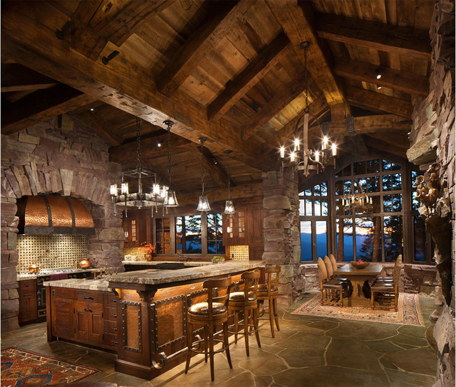 Great Northern Lodge Rustic Kitchen Other By Centre Sky Architecture Ltd Houzz
