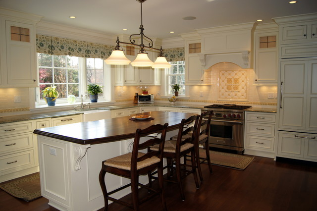 Greek Revival Renovation & Addition traditional-kitchen