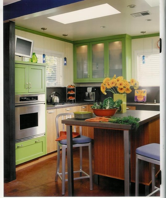 Green And Bamboo Eclectic Kitchen Los Angeles By The Kitchen Consultant
