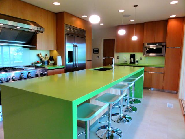 Green Apple modern-kitchen