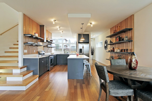 green built seattle townhouse modern kitchen seattle by seattle staged to sell and. Black Bedroom Furniture Sets. Home Design Ideas