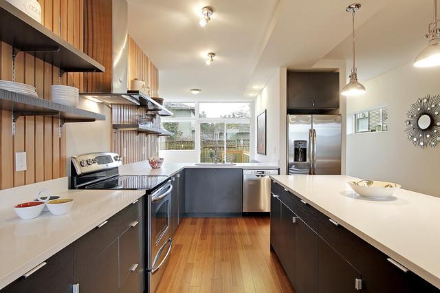 Green Built Seattle Townhouse modern-kitchen