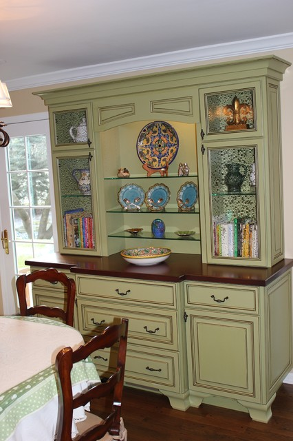 Green Cabinet Hutch - Traditional - Kitchen - Chicago - by Great ...