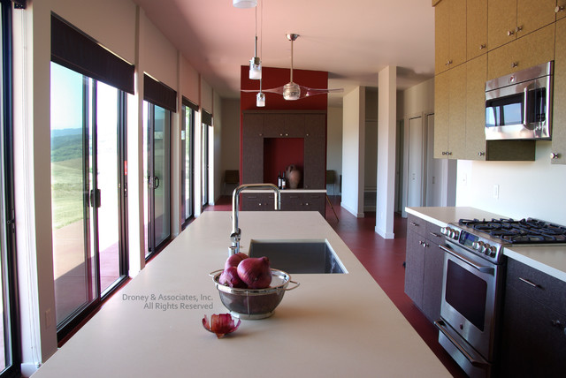 Green certified home modern kitchen santa barbara for Green certified home