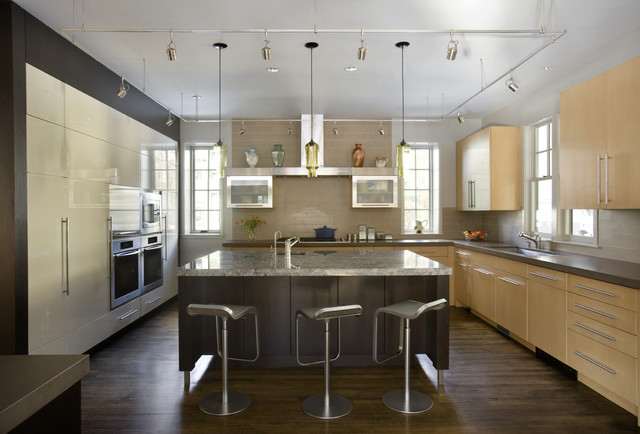 Green Gambrel Kitchen contemporary-kitchen