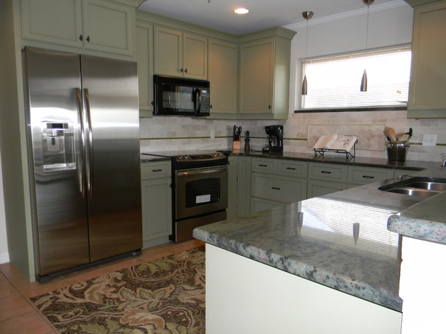 Green is popular in Kitchens contemporary-kitchen