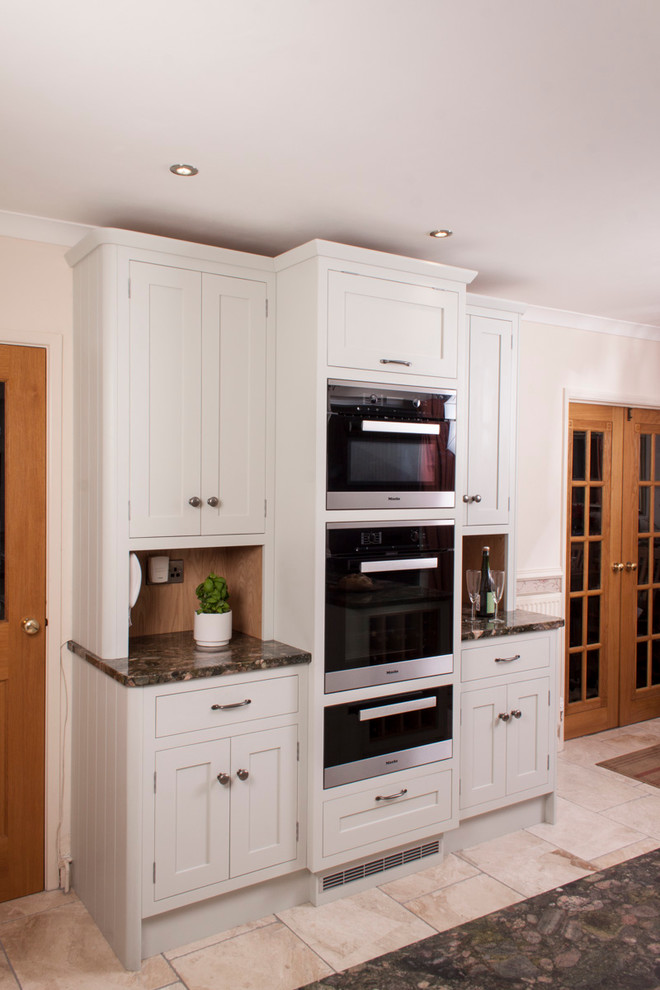green is the colour  traditional  kitchen  cardiff