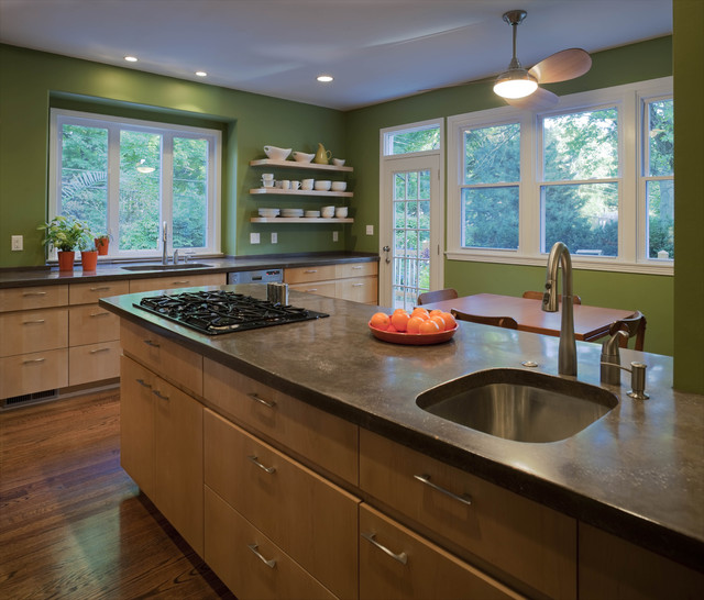 Green Kitchen contemporary-kitchen