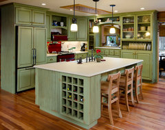 Green Kitchen refacing traditional-kitchen