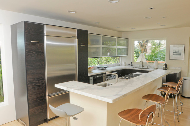 Green Lines Contemporary Kitchen San Francisco By