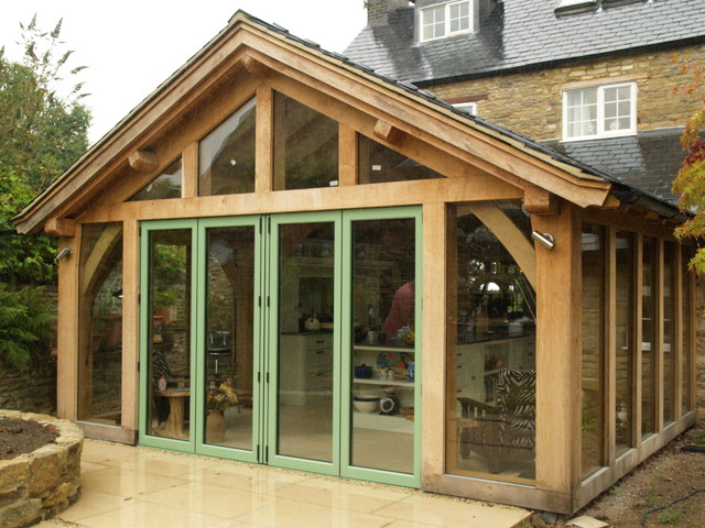 Green Oak Kitchen Extension Contemporary West Midlands By The Design Centre Ltd