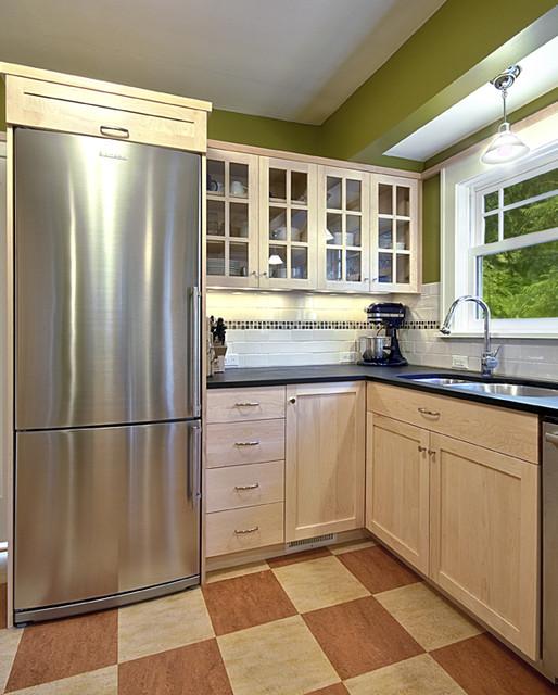 Green Shaker Kitchen contemporary-kitchen