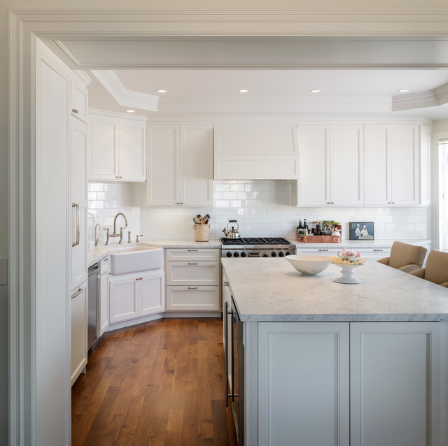L Shaped Kitchen Island Kitchen Traditional With Apron