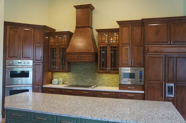 Green Tile Backsplash traditional-kitchen