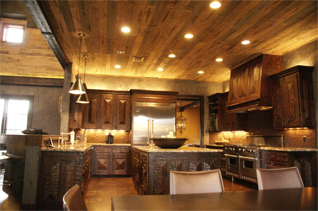 Green Valley Beams and Truss Photography contemporary-kitchen