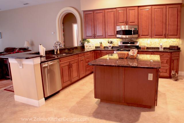 Green (Waypoint) Zelmar Home Remodel traditional-kitchen