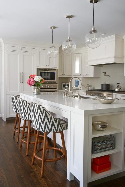 Transitional New York Kitchen with PentalQuartz Countertops