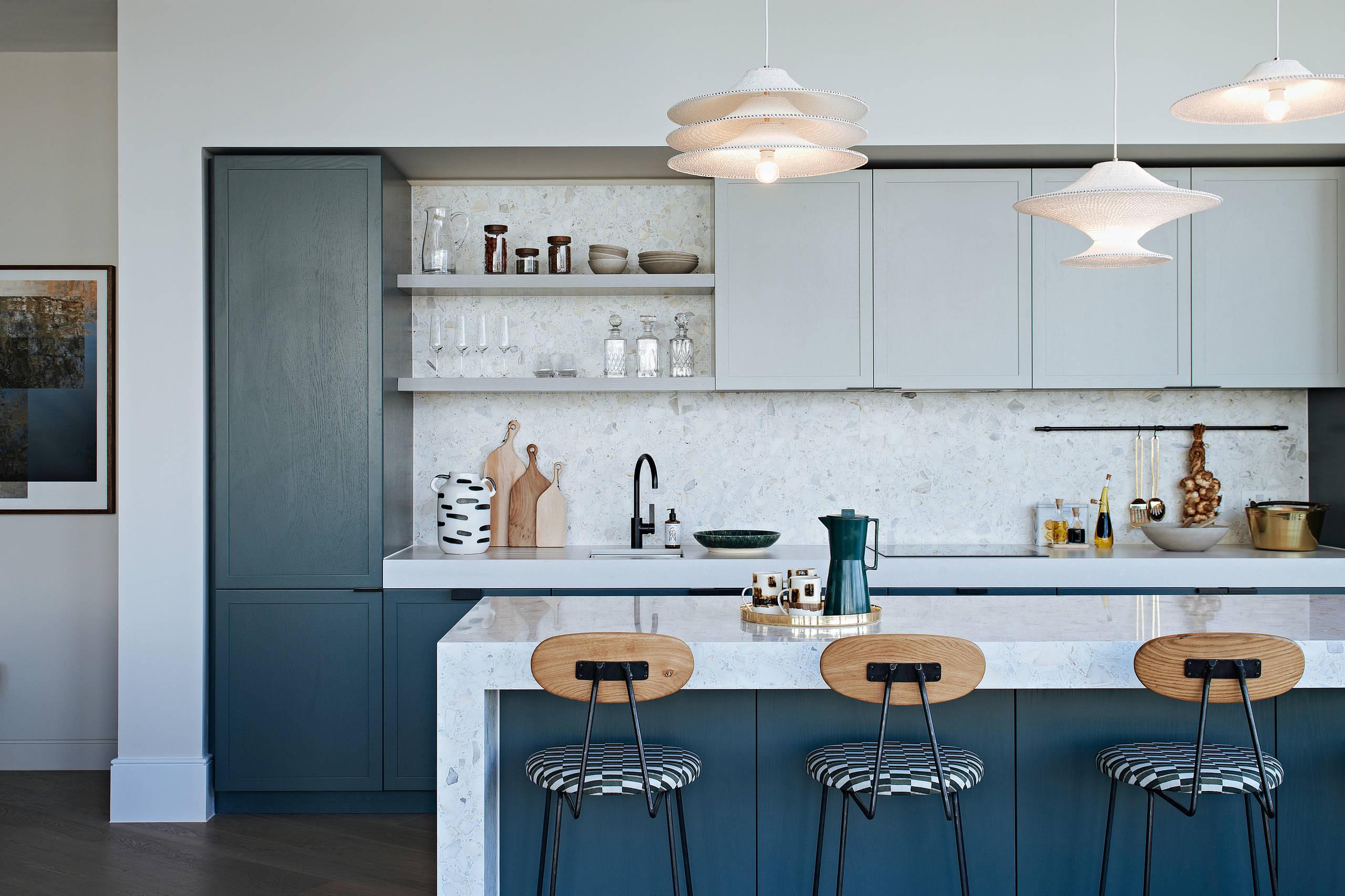 Teal And Gray Kitchen Ideas Photos Houzz