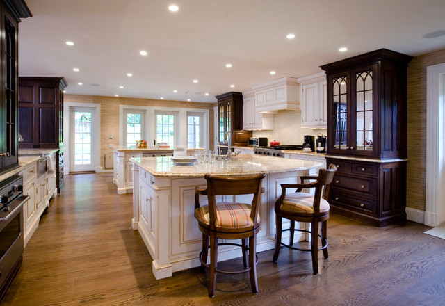 Greenwich Georgian Colonial Addition traditional-kitchen