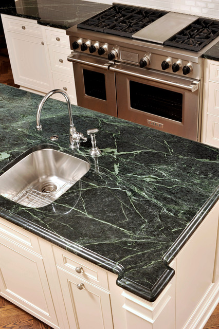 Awesome Greenwich Kitchen   Green Serpentine Polished Countertops  Traditional Kitchen