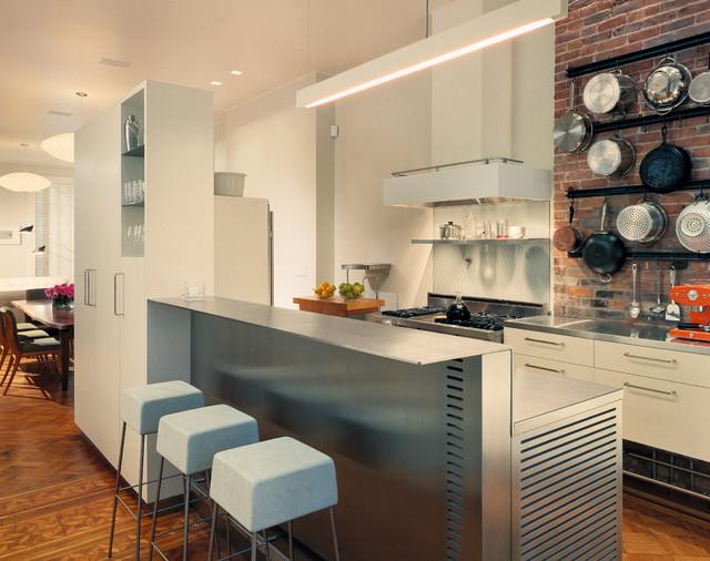 Greenwich Village Townhouse contemporary-kitchen