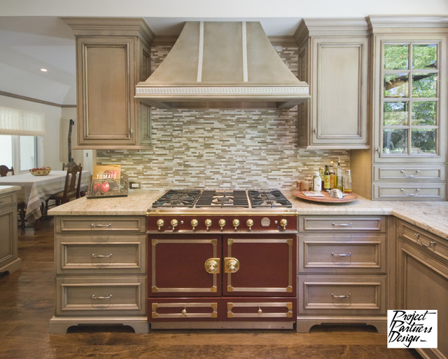Grey and Burgundy Kitchen - Traditional - Kitchen - San Francisco - by Project Partners Design