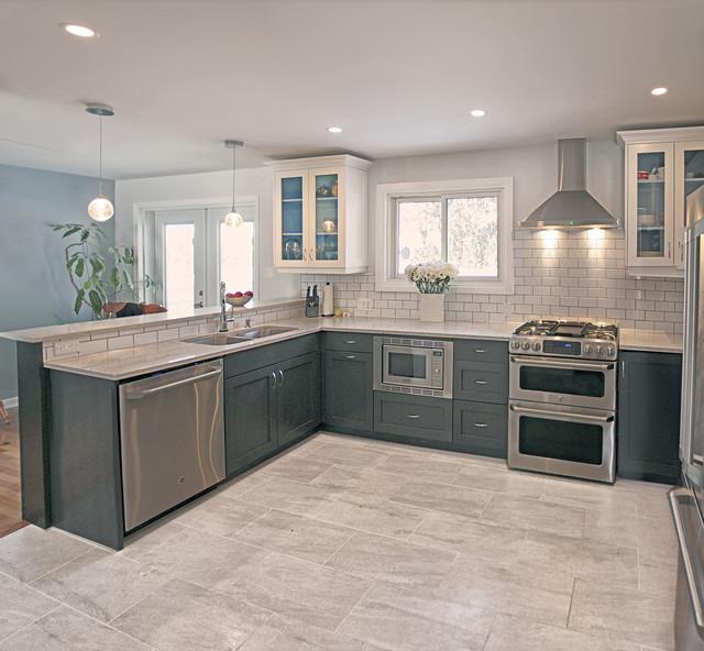 Modern Grey Kitchen: Grey And Cream Contemporary Kitchen With Classic Twist