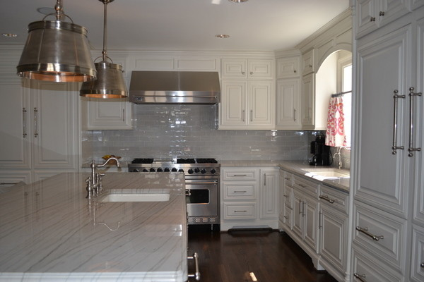 White And Grey Traditional Kitchen grey and white kitchen - traditional - kitchen - dallas -
