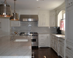Grey and White Kitchen traditional kitchen
