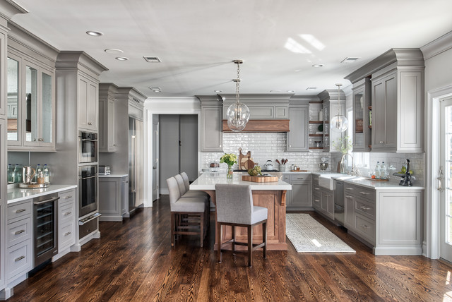Delicieux Grey Classic Kitchen   Transitional   Kitchen   New York ...