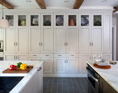Grey Country Kitchen traditional-kitchen