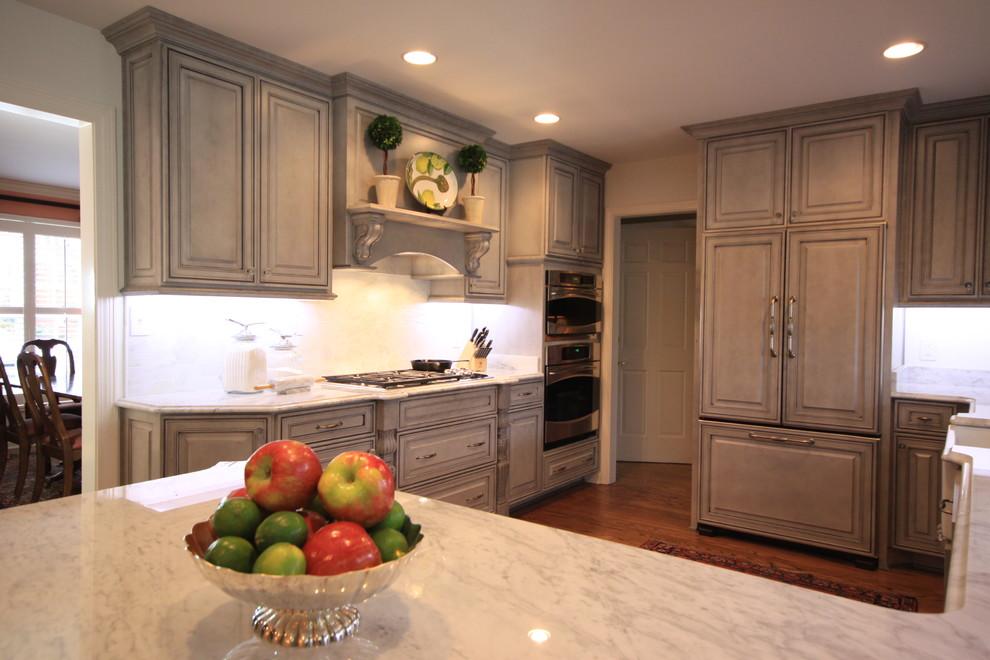 Grey Glazed Kitchen - Traditional - Kitchen - Louisville ...