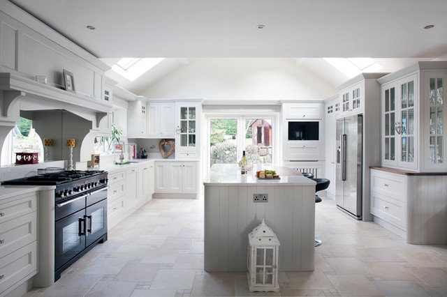 Grey Painted Kitchen Dublin Ireland Traditional Kitchen Dublin By Woodale Designs Ireland