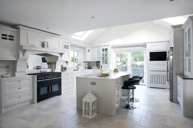 Grey Painted Kitchen Dublin Ireland Traditional Kitchen Dublin By Woodale