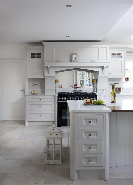 Grey Painted Kitchen - Dublin, Ireland - Traditional - Kitchen ...