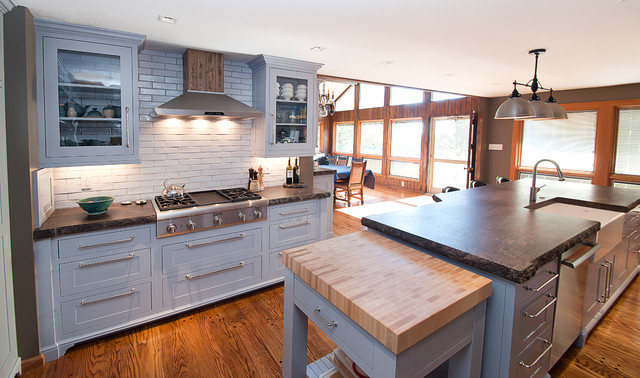 Grey Shaker Cabinetry Craftsman Kitchen