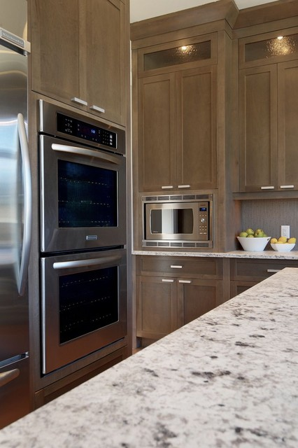 Grey stained kitchen contemporary kitchen calgary for Kitchen cabinets calgary