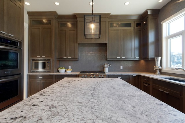 Grey Stained Kitchen Contemporary Calgary