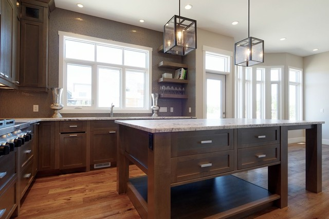 Grey Stained Wood Kitchen Cabinets ~ Grey stained kitchen contemporary calgary